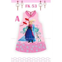 Dress anak Baju Cheongsam Imlek Frozen 2 - 6 th