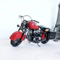 [globalbuy] mini red awesome nastalgic manual handcraft motorcycle toy for gift, collectio/4444342