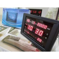 Jam Dinding Digital LED Meja LED Clock Merah