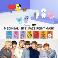 [FREE ONGKIR dari Korea] (4PCS) MEDIHEAL | BT21 Face Point sheet Mask