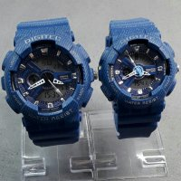 Jam Tangan Digitec Couple Denim Blue Dual Time Water Proof