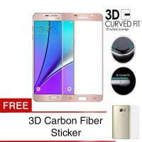 Grace Samsung Galaxy A7 2017 / A720 Tempered Glass + PET - 3D Full Cover - Lis Rose Gold