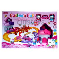 TRACK CARTOON CAT HELLO KITTY 906 - MAINAN KERETA FIGURE HELLO KITTY SJ0078