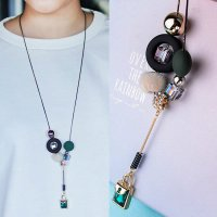 RFSDES349 - 350 Plush Tassel Chain Autumn And Winter Simple Necklace Diamond