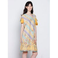 Baju Midi Dress Sabrina Yellow - Vallen