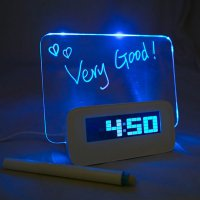 LCD Display Alarm Clock With Memo Board (Jam Papan Tulis)