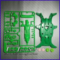Rep Tamiya MA Fluorecent Chassis Set Polycarbonate Body (Green) CMA03
