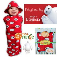 Swaddle Bedong Instan Baby Orange Bay Max