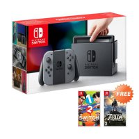 Buy Nintendo Switch Game Console - Grey + Free Nintendo The Legend of Zelda: Breath of the Wild dan Nintendo 1-2 Switch