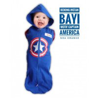 Swaddle Bedong Instan Baby Orange Captain America