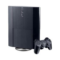 Sony Playstation 3 Superslim Game Console with Stick and 22 Game PSN - Hitam [250 GB]