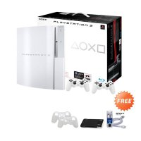 SONY Playstation 3 Fat Serial HHL CFW Game Console [Ref/Internal 40 GB/Eksternal 500 GB] + Free 50 Games + HDMI Premium Cable + Gaming Pad Silicon Case