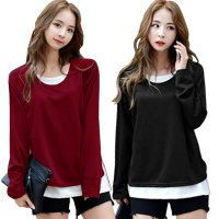 [FLAT PRICE] KOREAN STYLE ★ Jessica Double Layered Long sleeve tee/Baju lengan panjang/Baju jumbo