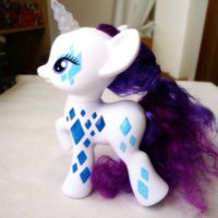 [globalbuy] Original Cutie Mark Magic Glamor Glow Rarity Figure Doll Toy Gift New Loose/2455625