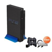 SONY PlayStation 2 Fat Game Console [80 GB/Refubished/Full Game] + Free 2 Stick