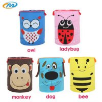 Animal barrel skip basket keranjang storage folding baju mainan boneka SJ0028