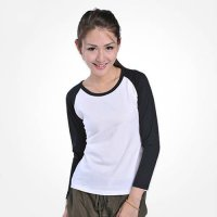 [globalbuy] New Autumn Fashion Womens Ladies Casual Crew Neck Baseball Raglan T-Shirt TEE /4022424