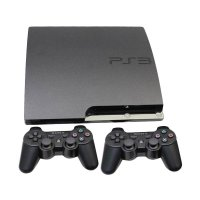 Sony PS3 Slim + HDD [250 GB] + 2 Stick Wireless Game Console