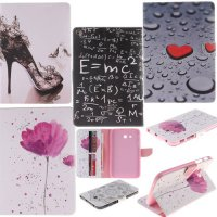 [globalbuy] 2 Sides Painted For Samsung Tab 3 Wallet Cover For Samsung Galaxy Tab 3 Lite T/4311090