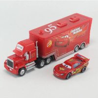 [globalbuy] 2 pcs Cars 2 Diecast No.95 Mack Racers Truck lightings Metal Toy Car For Child/4480601