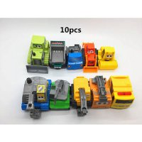 [globalbuy] 1:64 Pull back the car 10pcs Children s car toys crane excavator Dump truck Mu/4446088