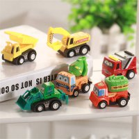 [globalbuy] 6Pcs/Lot Car Toys For Children Kids Tractor Toy Truck Autos Cute Car For Boys /4559160