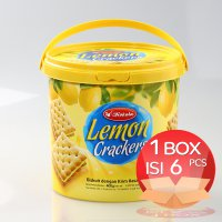 Kokola Lemon Crackers Cookies 400 gr (1 Dus = 6 Bucket)