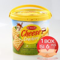 Kokola Cheese Crackers Cookies 400 gr (1 Dus = 6 Bucket)