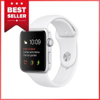 Apple Watch 2 Series 2 - 42mm Silver Aluminum Case with White Sport Band - Garansi Resmi Apple