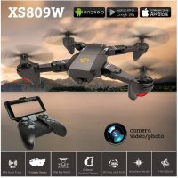 VISUO XS809W Foldable RC Quadcopter RTF WiFi FPV Camera G-Sensor Mode One Key Return Dji Mavic Clone Drone Quadcopter