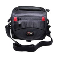X12T Procyon XS Logo Tas Kamera with Rain Cover for Mirrorless - Black Red