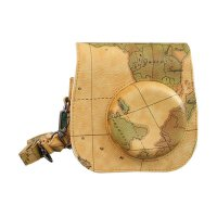 Fujifilm Map Edition Leather Bag Case Kamera for Instax Mini 8 or 9