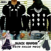 Jaket Anime Obito Hoodie Black Cosplay