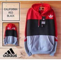 Sweater Hoodie Adidas California Red Black