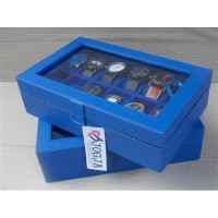 Benheur Blue Watch Box For 12 Pcs Watches - Tempat Jam Tangan Isi 12