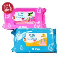 BUY 1 GET 1 - Pure Baby Cleansing Wipes Tea Olive / Lemon - 60's