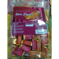 Coklat Checkers Mix Fruit Mini Chunky Chocolate 4 Rasa Enak