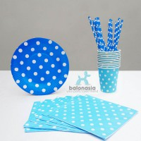 Table Ware Party Set (Biru)