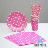 Table Ware Party Set (Pink)
