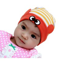 Topi Bayi Beanie Stripe Headgear (Yellow)