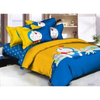 Pantone - Doraemon Lovely Bed Cover Set / 2 Size / Bahan Microtex