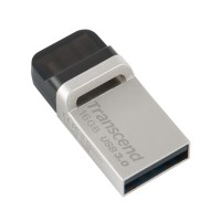 Transcend JetFlash 880S Dual USB 3.0 Flash Drive 16GB - Silver