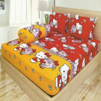 Sprei Lady Rose Disperse 180 Hello kitty Red