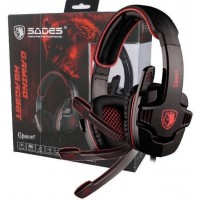 SADES 708 Gpower (RED) - Stereo Gaming Headset
