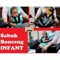 Sabuk Bonceng Motor Infant/bayi - Ladona - Motif Batic Purple