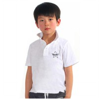 SUPER JUNIOR - BOYS S/S POLO SHIRT - WHITE