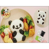 Bento Panda Rice, Sandwich & Cookie Mold with Cutter