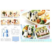 Bento Baby Penguin Rice Mold 3D with Nori Cutter