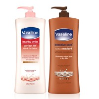 VASELINE HAND BODY LOTION PUMP 400 ML / COCOA /HEALTHY WHITE
