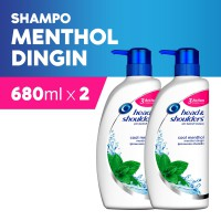 Head & Shoulders Shampoo Cool Menthol 680ml - Paket isi 2